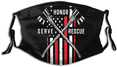 Firefighter American Flag Thin Red Line Firefighter Face Mask Washable Reusable Balaclava With product image
