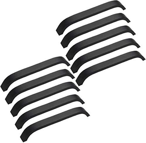 MARGUERAS 10PCS 160mm Poignée noir poignées de placard Cuisine Meuble Placard