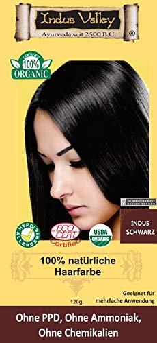 Indonatura Indus Valley 100% natürliche Haarfarbe Indus Schwarz