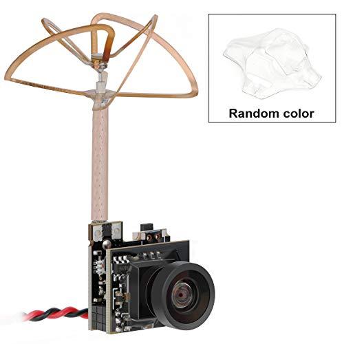 Hootracker Crazepony-UK Tiny Whoop FPV Micro cámara AIO Camera 150 Grados 5.8G Transmisor de 40CH 25mW con Antena de Hoja de trébol polarizada Circular