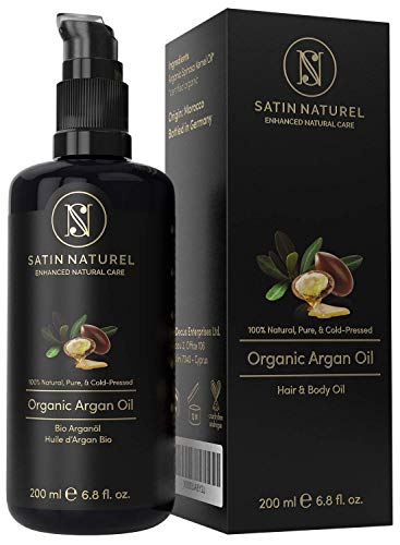 L'Olio di Argan BIO- Spremuto a Freddo Satin Naturel - Best Seller 2019