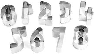 eDealMax bricolaje Pastelería Panadería Postre números árabes de la forma del molde del cortador Set 9