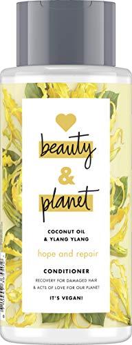 Love Beauty and Planet Hope & Repair Après-shampoing pour cheveux abîmés, huile de noix de coco et ylang ylang fleur sans silicone 400 ml
