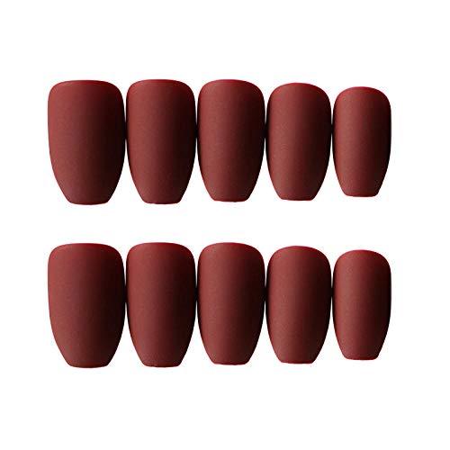 CLOAAE Summer wearable rectangular head false nail tips Ms. manicure decoration blue artificial nail stickers 24 pcs/set