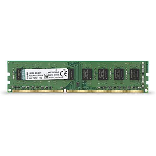 Kingston Technology ValueRAM 8GB 1333MHz DDR3 Non-ECC CL9 DIMM STD Height 30mm Desktop Memory 8 (PC3 10600) KVR1333D3N9H/8G