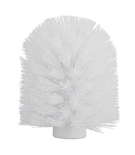 axentia 282290 Tête de Brosse, Plastique, Blanc, Ø 8,5 cm, Hauteur env. 9,5 cm