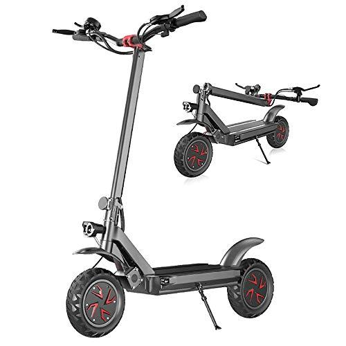 FUJGYLGL Adulto Scooter eléctrico, Doble impulsión del Motor, Velocidad rápida, Alta Velocidad, Resistencia Fuerte, con función de iluminación, Fuerte Rendimiento de frenado
