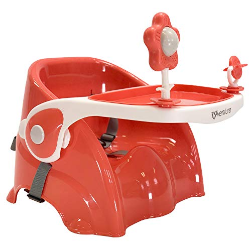 Venture Bubble Portable Travel high Chair, Feeding Booster seat (Coral)