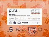 Pura N5 - Premium Eco Pañales Bebé Tamaño 5 (Junior 11-25 kg/24-55 lbs), 5 Paquetes de 25 Pañales (125 Pañales), Fibras Vegetales Naturales, puros, Respetuosos con el medio Ambiente