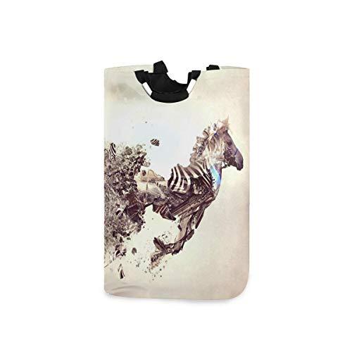 N\A Wäschekorb Faltbarer Eimer kollabiert Wäschekorb Künstlerischer Zebra-Waschbehälter für Heimorganisator Kinderzimmer Aufbewahrung Babykorb Kinderzimmer