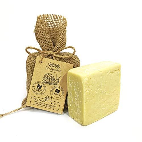 Barra di sapone di lumaca naturale organico fatto a mano antico tradizionale - Anti invecchiamento, efficace per acne e pelle - Nessun prodotto chimico, puro sapone...