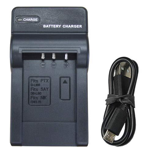 【JC】充電器(USBタイプ)PENTAX D-Li88 / SANYO DB-L80 / Nikon EN-EL19 対応