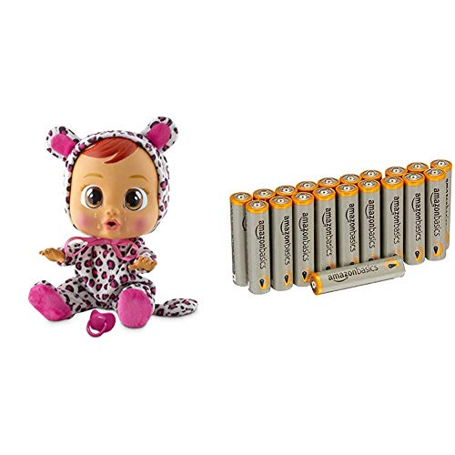 IMC Toys - Cry Babies, Lea - 10574 avec les batteries Amazon Basics