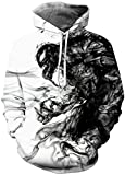 Chaos World Hombres Sudaderas con Capucha cordón Bolsillos 3D Impreso Pullover Hoodies (Venom de Humo,M)