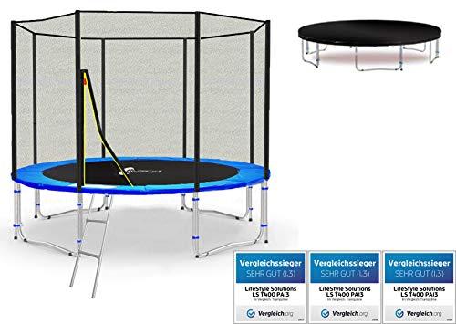 LifeStyle ProAktiv LS-T305-PA10 (BW) Trampolino da Giardino 305cm - incl. Rete di Sicurezza 130g/m² - New