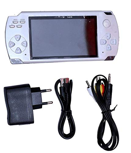 POWERNRI Grand Classic PSP MP4 Player with Built-in 4GB Memory with 10000 Games (White)