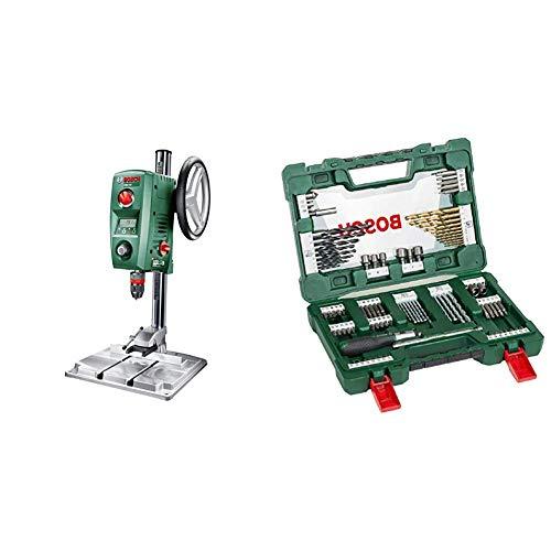 Bosch PBD 40 - Taladro de columna (710 W, caja de cartón) + Bosch V-Line Titanio - Maletín de 91 unidades para taladrar y atornillar