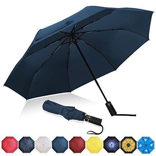 ombrello portatile newdora Amazon Brand - Eono Ombrello Portatile Automatico Antivento