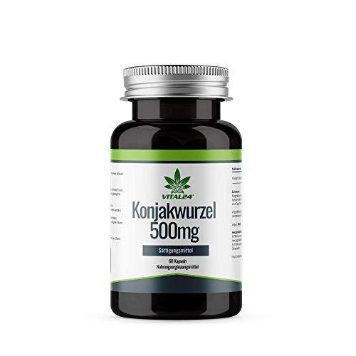 VITAL24 - Konjak Wurzel Extrakt (Glucomannan) - 500 mg je Tablette - Hochdosiert - Laborgeprüfte...
