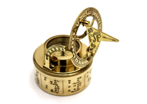 Map Compass - Brass Magnified Compass with Rose wood Box - Brass Compass