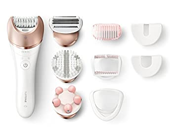 Philips Beauty Satinelle Prestige Epilator Wet & Dry Electric Hair Removal Body Exfoliation and Massage  BRE648  Multi