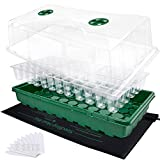 2 Sets 72-Cell Seed Starter Kits with Heat Mats -...