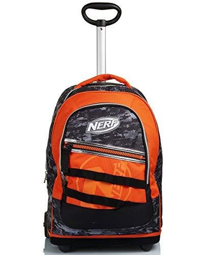 Big Trolley Nerf, Nerf Nation Unica, Nero e Arancione, Spallacci uso Zaino, Scuola & Viaggio