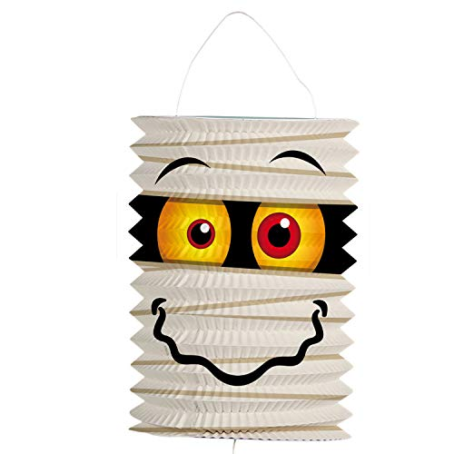 cama24com Kinder Laterne Mumie Halloween Zuglaterne Martinstag Laternenumzug mit Palandi® Sticker