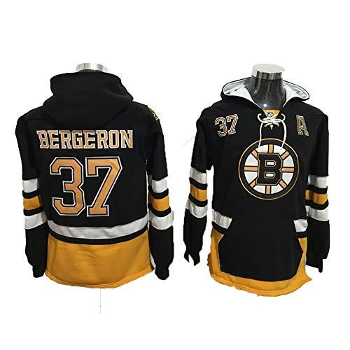 Yajun Kapuzen Pullover Hoodie NHL Orr #4/Patrice Bergeron #37/Ray Bourque#77 Boston Bruins Sweatshirt Lässige Kleidung Langarm T-Shirt mit Mehreren Taschen Winter Eishockey Trikots,37,XL