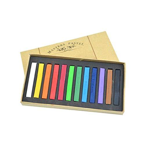 Cicony - Tiza de pelo temporal de colores de tiza para el cabello, regalo de cumpleaños de bolígrafo seco de color del cabello lavable, As Picture Show, 12 couleurs