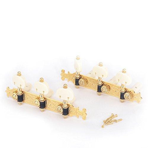 Musiclily Pro 3X3 Bouchet Stil Mechaniken-Satz für Konzertgitarren, Gold