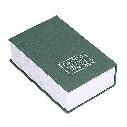 Ranvo Caja Fuerte para Libros De Desvío, Apariencia única Papel Texturizado + Acero Inoxidable Buena Ocultación Caja Fuerte para Libros De Imitación Fácil De Usar para Tarjetas De Identificación