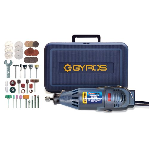 Gyros 40-02470 PowerPro Variable Speed Rotary Tool Kit; Multi-purpose Professional Cutting Tool; 1.2A High Speed Power; Tool Storage Case with 50 Piece Accessory Set Included!