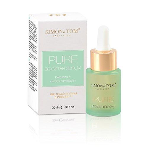 Simon & Tom PURE Booster Serum, Gleicht das Hautbild an, reduziert überschüssige Öle und minimiert das Auftreten von Poren, mit Kamillenextrakt 20 ml.