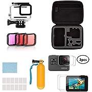 Taisioner Water Sport Kit of Handbag + Waterproof Case + Three Filter + Protector + Underwater Float Stick for GoPro Hero 5 Hero 6 Hero 7 Black Diving Accessories Suit