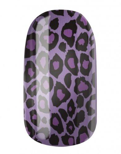 Nagelfolien/Purple Leo- selbstklebend mit individuellen Designs by Glamstripes- made in Germany. 12 Nail Wraps äußerst strapazierfähig mit langer Haltedauer
