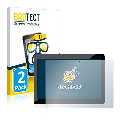BROTECT Schutzfolie kompatibel mit Odys Xelio 10 HD Plus (2 Stück) klare Bildschirmschutz-Folie