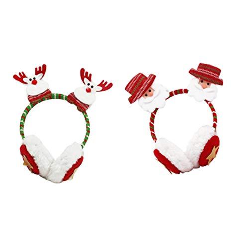 Tendycoco Oorbeschermers voor Kerstmis, winter, warm, 2 stuks