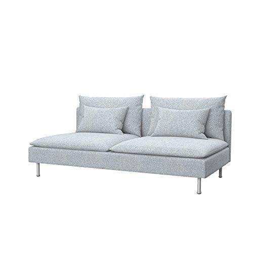 Soferia Funda de Repuesto para IKEA SÖDERHAMN sofá Cama, Tela Naturel Light Grey, Gris