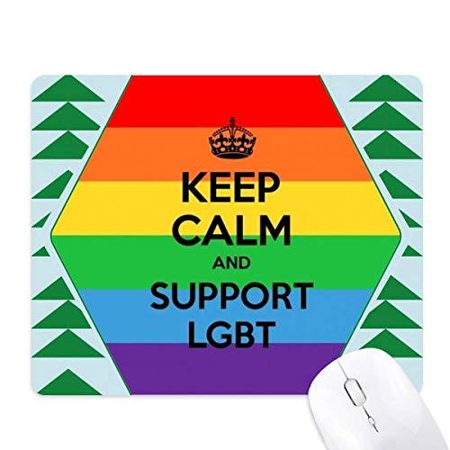 Gay Lesbische Transgender Biseksuelen Vlag LGBT muismat groene dennenboom rubberen mat