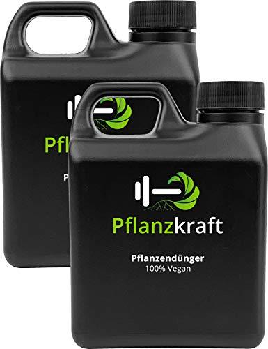 Pflanzkraft 2er-Set NPK Dünger mit Seetang | 2x1L für 600 Liter Gießwasser | Bio | Vegan | Algen