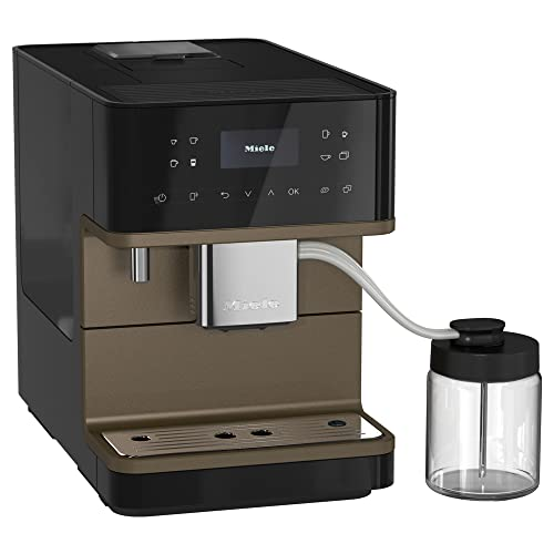 NEW Miele CM 6360 MilkPerfection Automatic Wifi Coffee Maker & Espresso Machine Combo, Obsidian Black & Bronze Pearl Finish - Grinder, Milk Frother, Cup Warmer, Glass Milk Container