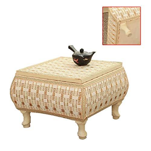 TATAMI Tuinmeubelen en accessoires, tafel van bamboe, voor vensterbank, kleine tafel, kijkvenster, studiolessen, kindertafel, grot