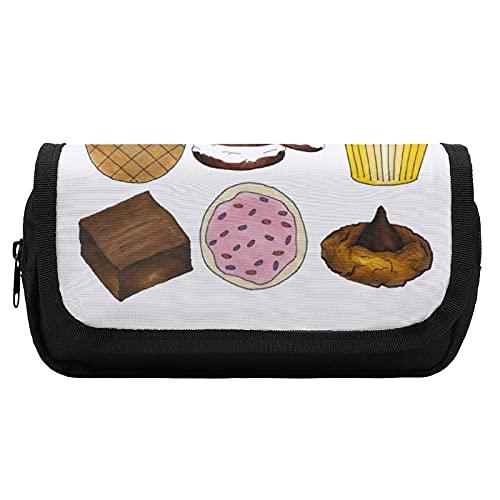 Großes Federmäppchen, zum Backen von Keksen, Cupcakes, Brownie, Kuchen, Donut, Stifttasche, Büro-Stifthalter, Organizer, Schreibwarentasche für Erwachsene, Mädchen, Jungen