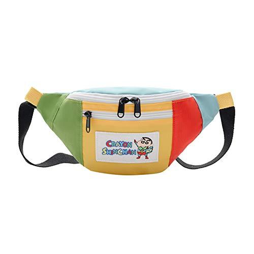 canvas bag,tote bags,shoulder bags,hippy bags,shopper bag,commute,Canvas Cartoon Crayon Shinchan Shoulder Bag Cute Boys& Girls Belt Bags Children's Tide Anime Backpack 8-11 Years