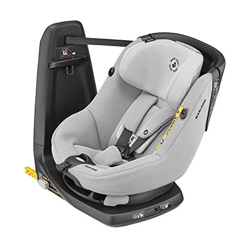 Maxi-Cosi AxissFix Autositz, 360° drehbarer Kindersitz mit ISOFIX und Liegeposition, nutzbar ab ca. 4 Monate bis 4 Jahre (ca. 61 - 105 cm), Authentic Grey, Grau