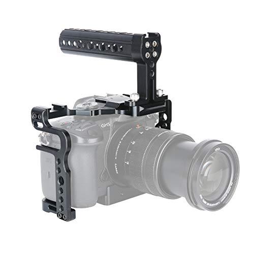 [Update Version] NICERYIG GH5s GH5 Kamera Käfig Kit mit Kamera Käse Top Griff Cold Shoe Mount NATO Schiene für DSLR Panasonic Lumix GH5 GH5s