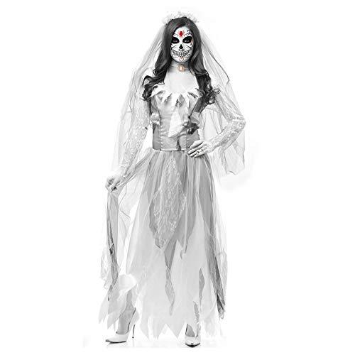 PengShi Disfraz De Zombie For Mujer Fantasma De Halloween Disfraz De Zombie Disfraz De Mascarada Disfraz De Escenario Vampiro Diablo (Color : 01, Size : M)