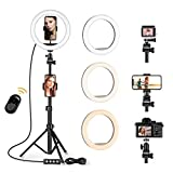 10 '' Ring light Selfie LED Luz del Anillo con trípode ajustable - Luz de...