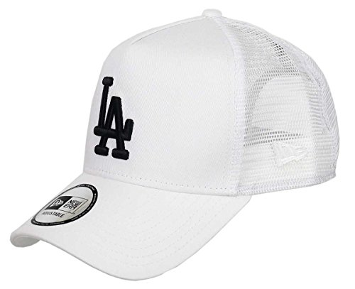 New Era Los Angeles Dodgers A Frame Trucker Cap Black White Edition White - One-Size